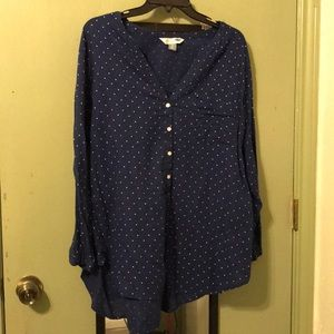 Blue polka dot top